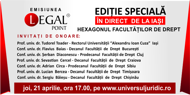"Ediție specială a emisiunii ""Legal Point"""