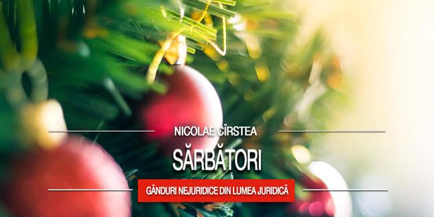 Nicolae Cîrstea: Sărbători