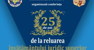 """[Cum a fost] Conferința """"25 de ani de la reluarea învățământului juridic superior orădean"""""""