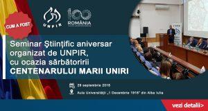[CUM A FOST] Seminar științific aniversar organizat de UNPIR, cu ocazia Centenarului Marii Uniri
