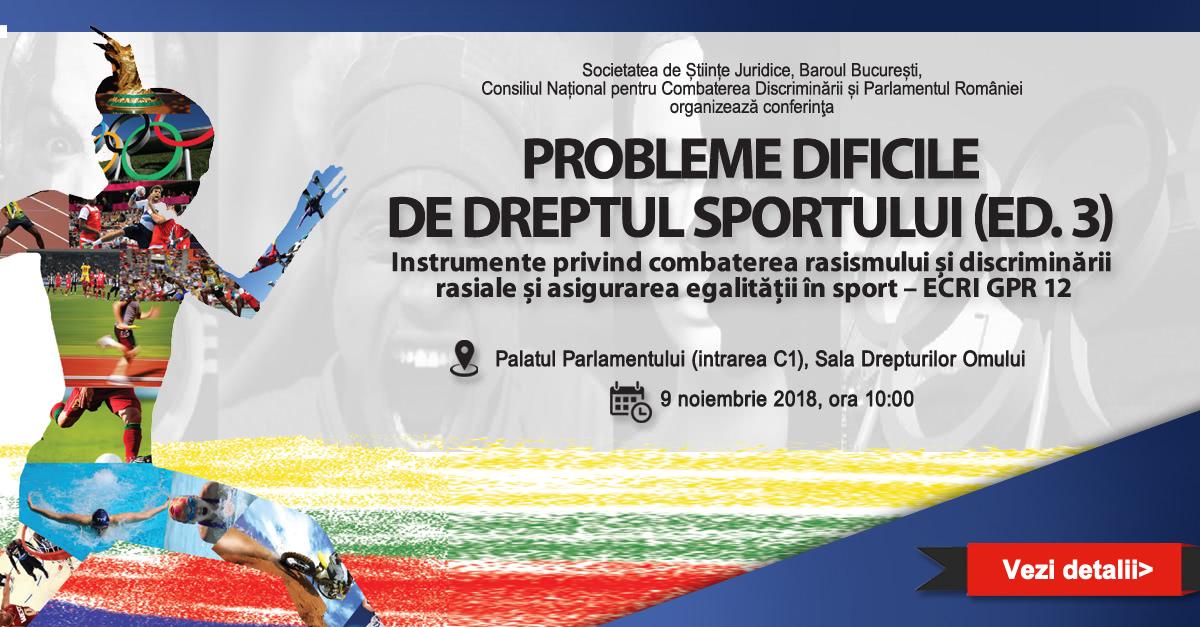 Probleme dificile de dreptul sportului (ed. 3 ...