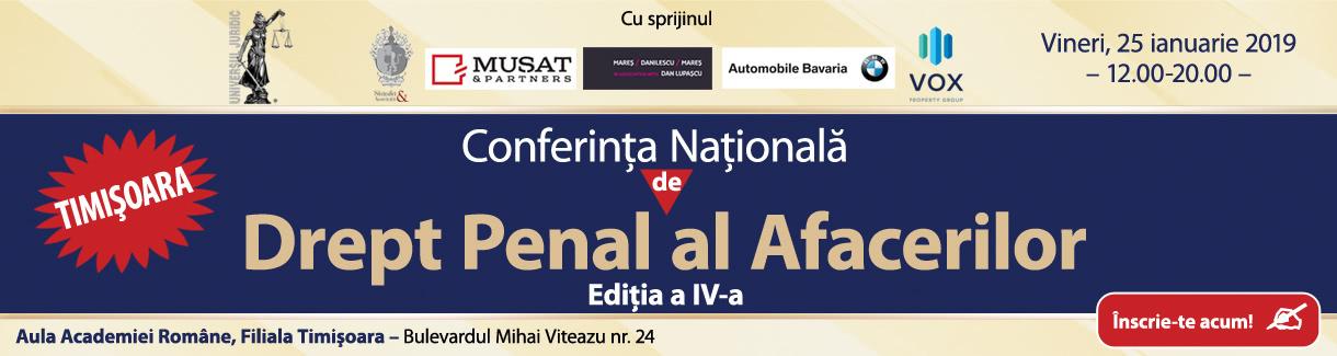 baner 1220x325 conferintas de drept penal al afacerilor timisoara