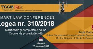 [CUM A FOST] SMART LAW CONFERENCES – Legea nr. 310/2018. Modificările și completările aduse Codului de procedură civilă