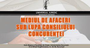 Conferința Mediul de afaceri sub lupa Consiliului Concurenței, ediția a V-a