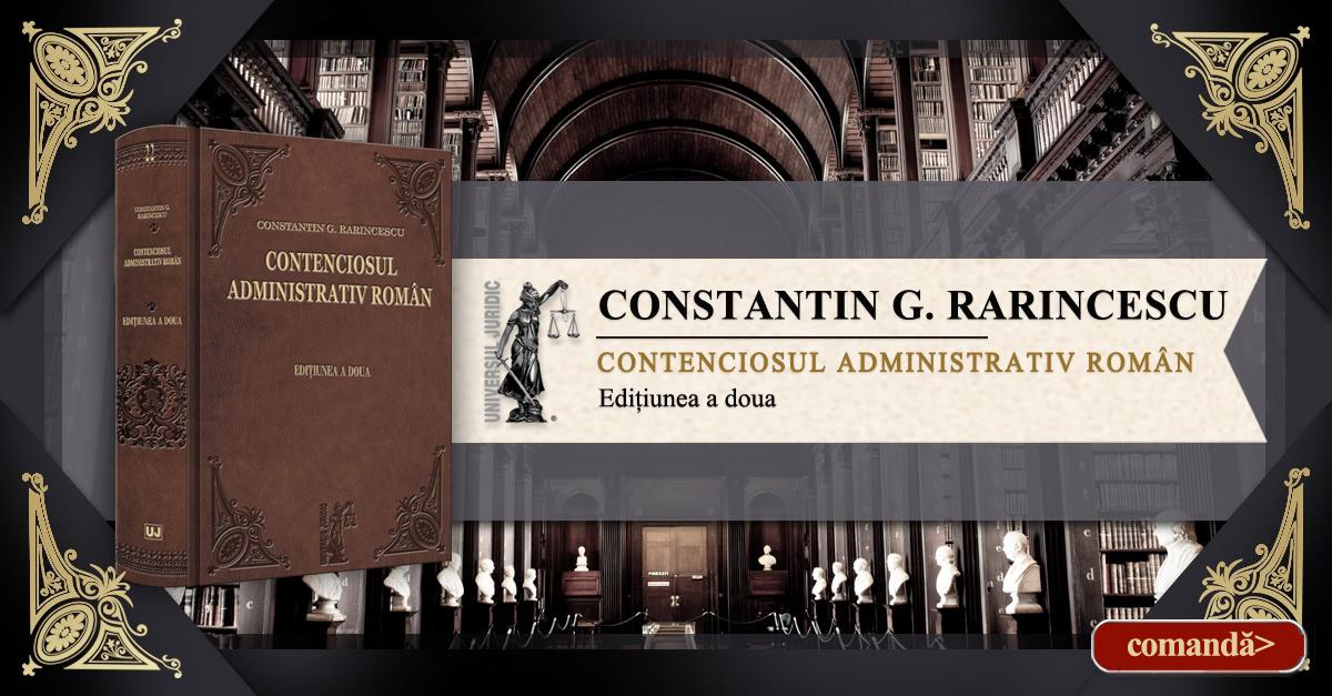 Contenciosul administrativ roman Rarincescu