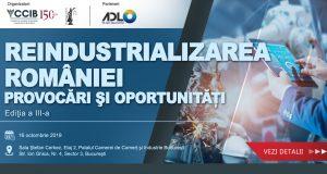 """Conferința """"Reindustrializarea României – Provocări și oportunități"""""""