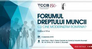 """Conferința """"Forumul Dreptului Muncii; Cu cine modernizăm România?"""", ediția a VII-a"""