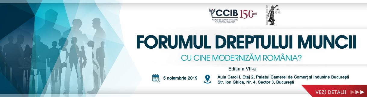 banner 5 Noiembrie 2019 Forumul dreptului muncii1220X325