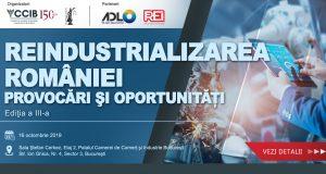 """[CUM A FOST] Conferința """"Reindustrializarea României – Provocări și oportunități"""""""