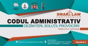 [CUM A FOST] SMART LAW CONFERENCES – Codul administrativ. Dezbateri, soluții, provocări. Ediția a II-a, Constanța