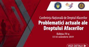 """[CUM A FOST] Conferința națională """"Problematici actuale ale Dreptului Afacerilor"""""""