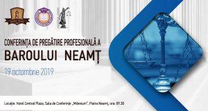 [CUM A FOST] Conferința de pregătire profesională a Baroului Neamț