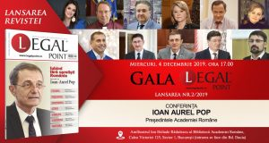 Gala Legal Point nr. 2/2019 – Conferința acad. prof. univ. dr. Ioan-Aurel Pop