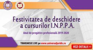 [CUM A FOST] Festivitatea de deschidere a cursurilor I.N.P.P.A. Anul de pregătire profesională 2019-2020