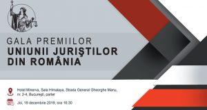 [CUM A FOST] Gala Premiilor Științifice a Uniunii Juriștilor din România pe anul 2019, ediția a 28-a