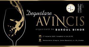Degustare AVINCIS organizată de Baroul Bihor