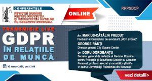 [CUM A FOST] [UPDATE: Acreditare INPPA] Online: Conferința GDPR în relațiile de muncă