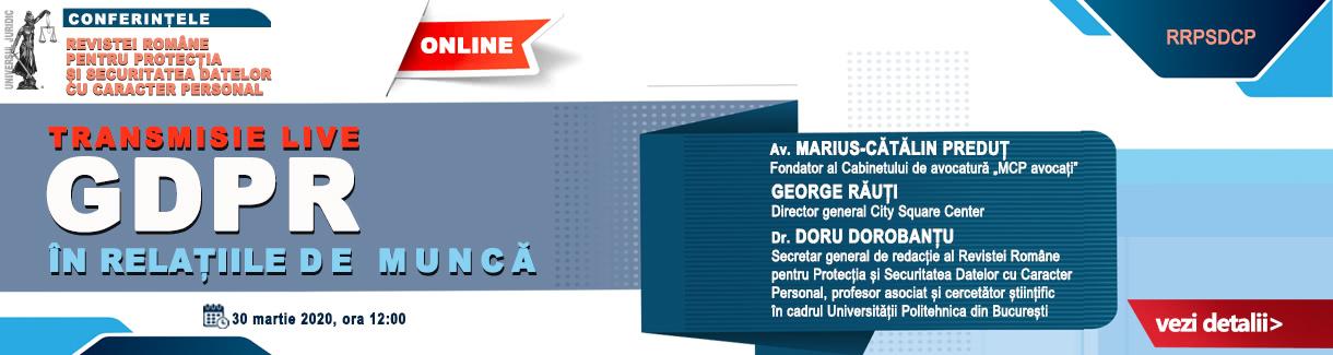 Conferintele GDPR online 1220