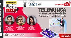 [CUM A FOST] [UPDATE: Acreditare INPPA]Conferințele Online UpDate Work: Telemunca și munca la domiciliu. Adaptarea activității salariaților
