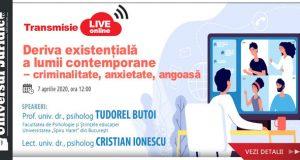 Workshop online: Deriva existențială a lumii contemporane – criminalitate, anxietate, angoasă