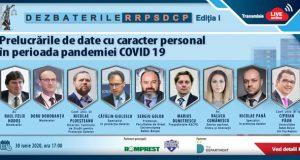 [CUM A FOST] Dezbaterile Revistei RRPSDCP: Prelucrările de date cu caracter personal în perioada pandemiei COVID-19