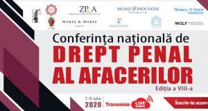 [CUM A FOST] Conferința națională de Drept Penal al Afacerilor, ediția a VIII-a, ON-LINE