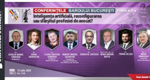 """[CUM A FOST]Conferințele Baroului București: """"Inteligența artificială, reconfigurarea sau sfârșitul profesiei de avocat?"""""""