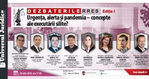 [CUM A FOST] Dezbaterile RRES: Urgența, alerta și pandemia – concepte ale executării silite?