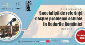 Specialiști de referință despre probleme actuale în codurile României, ediția a III-a, Online