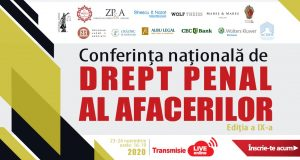 Conferința națională de Drept Penal al Afacerilor, ediția a IX-a, ONLINE