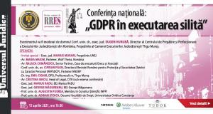 """Conferința națională: """"GDPR în executarea silită"""""""