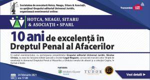 """""""10 ani de excelență în Dreptul penal al Afacerilor"""""""