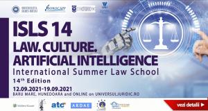 International Summer Law School, 14th Edition. LAW. CULTURE. ARTIFICIAL INTELLIGENCE