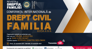 Conferința [inter]națională de Drept civil. Familia, ediția a IV-a