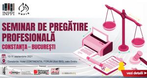 INPPI: Seminar de pregătire profesională Constanța – București